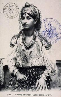 beduina bereber de Debdou, Marruecos, 1925