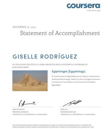 diploma egiptología