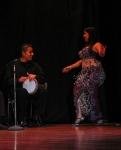 Drum solo. Giselle Habibi y Jorge Luis Morales.