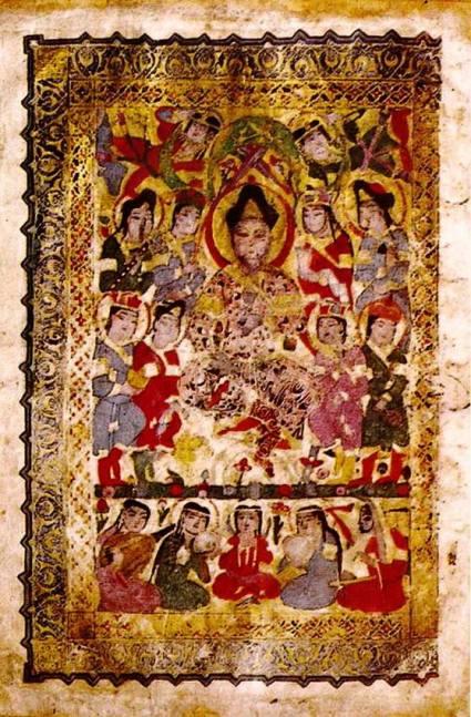 ilustración del libro de canciones Mosul 1219 AD
