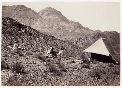 Tienda oscura de Francis Frith. Jebel Musa, Sinaí, 1857.