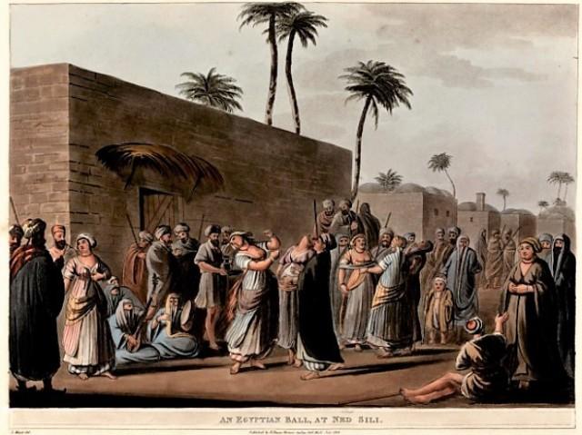 Luigi Mayer an egyptian ball 1801